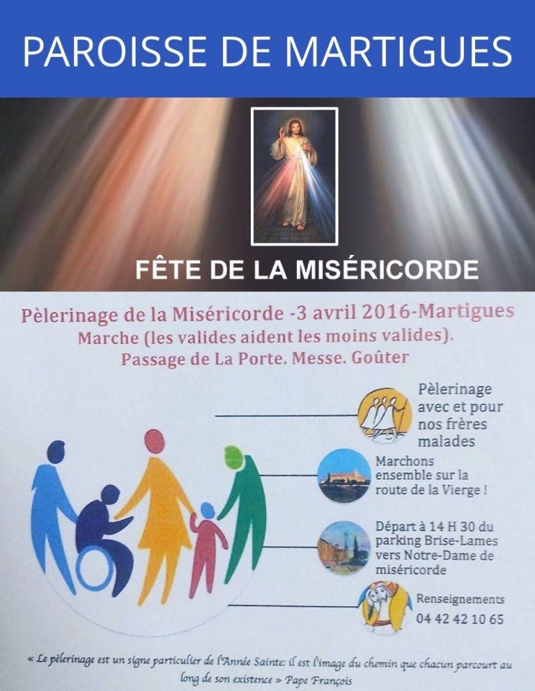 Pèlerinage de la Miséricorde : Rendez-vous pour tous les Martégaux dimanche 3 avril à 14h30, parking lycée Brise-Lames
