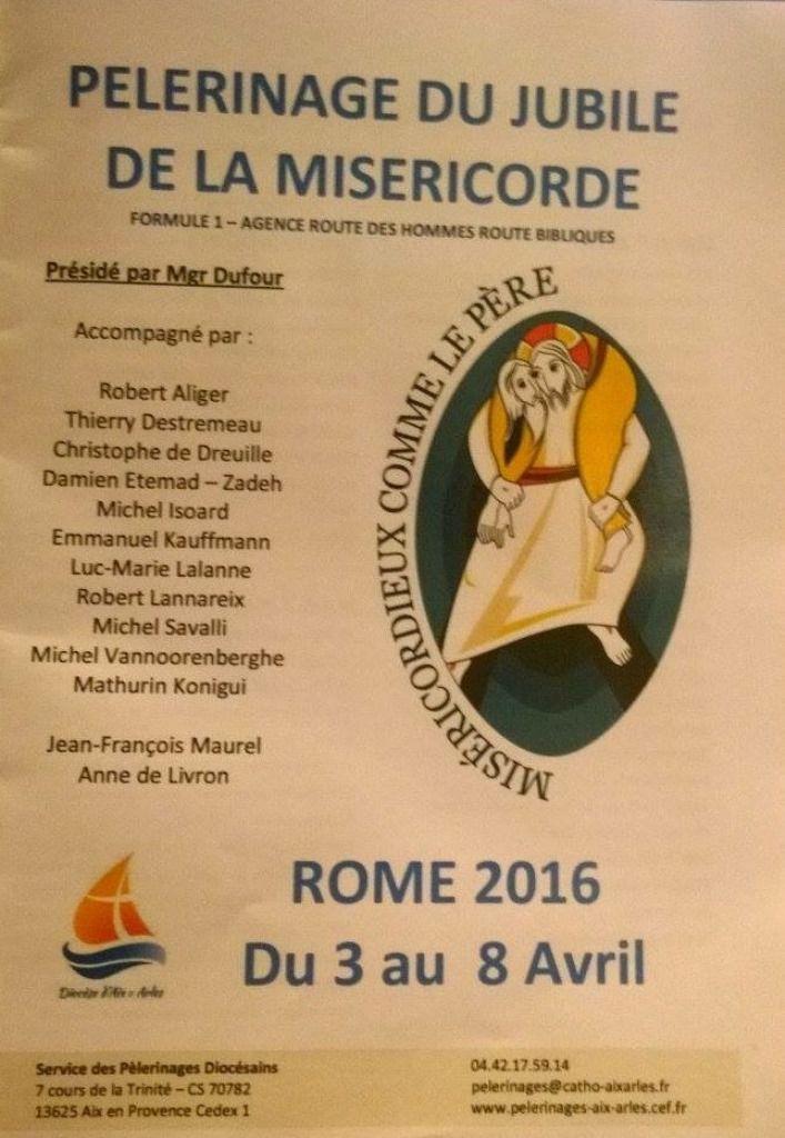 LE PELERINAGE DIOCESAIN A ROME : C'EST PARTI !