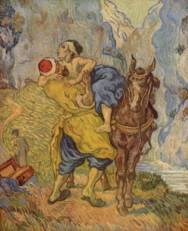 « Le Bon Samaritain », Vincent Willem van Gogh (1853-1890), Musée Kröller-Müller, Pays-Bas.