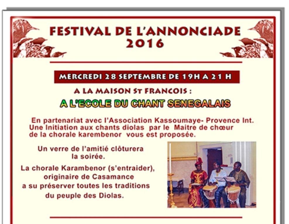 Mercredi 28 septembre de 19h à 21h, Maison Saint François, 2 boulevard Joliot Curie