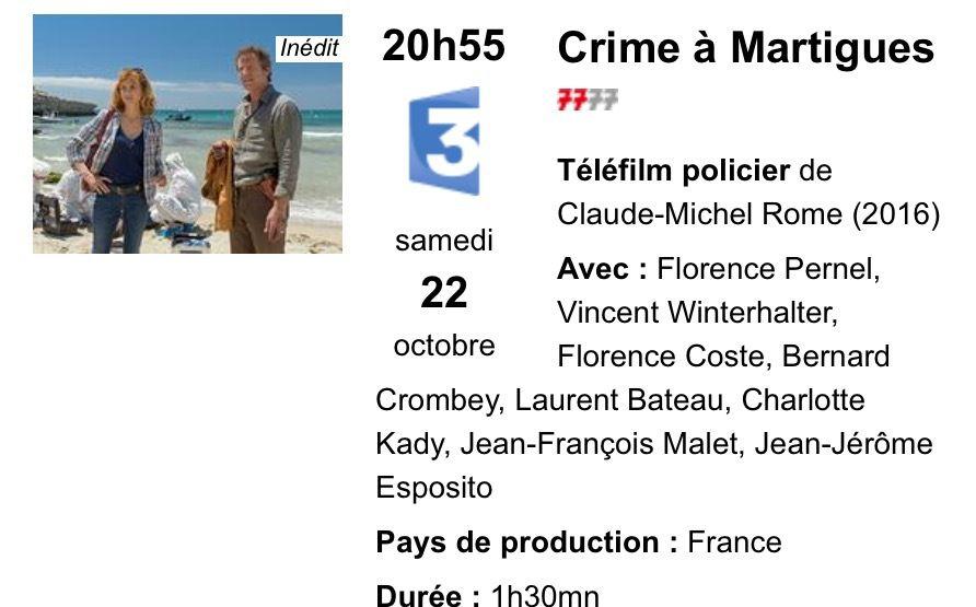 Le film sera rediffusé sur France 3  ce soir à 20h55.