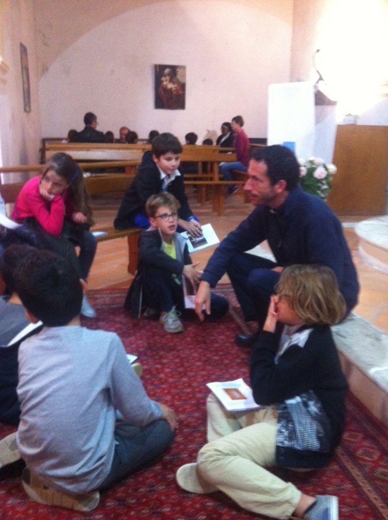 Temps Famille cet après-midi à Notre Dame de Miséricorde. Partage, Enseignement, Plongée dans la Miséricorde