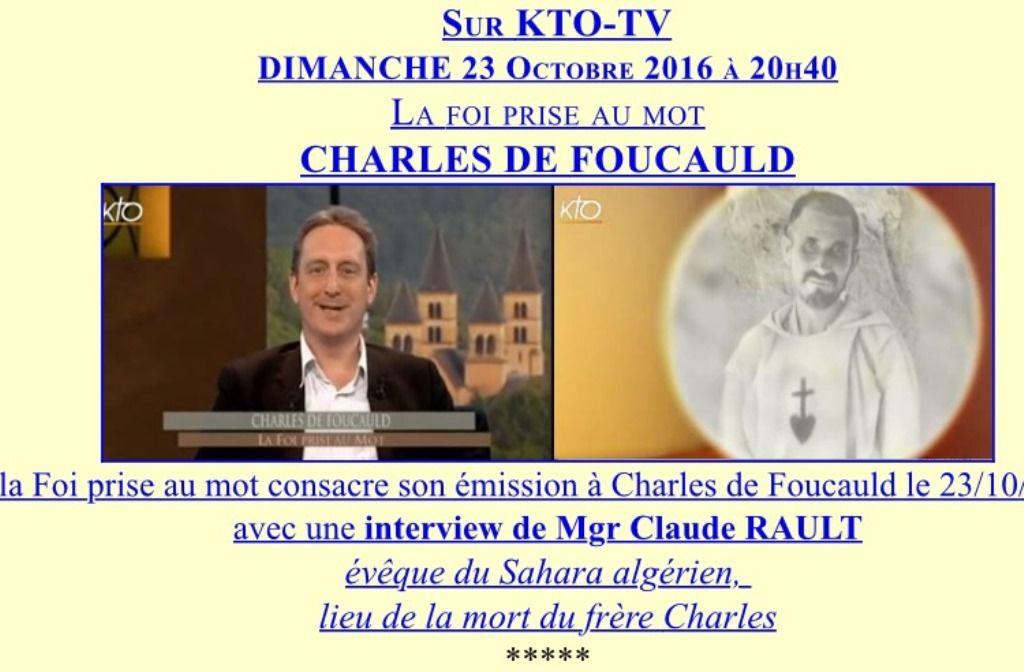 CHARLES DE FOUCAULD : CENTENAIRE DE SA DISPARITION