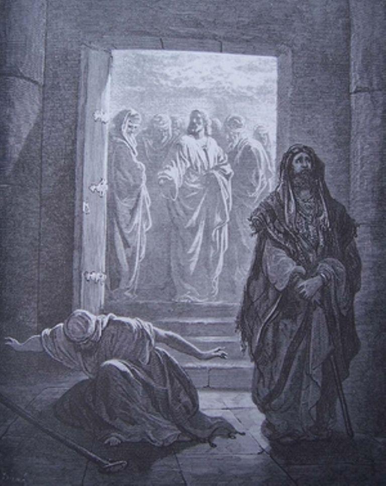 «Le pharisien et le publicain au Temple» Gustave Doré (1832-1883).