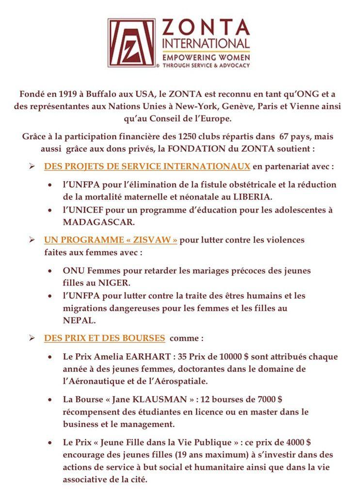 LE ZONTA DIT NON AUX VIOLENCES FAITES AUX FEMMES