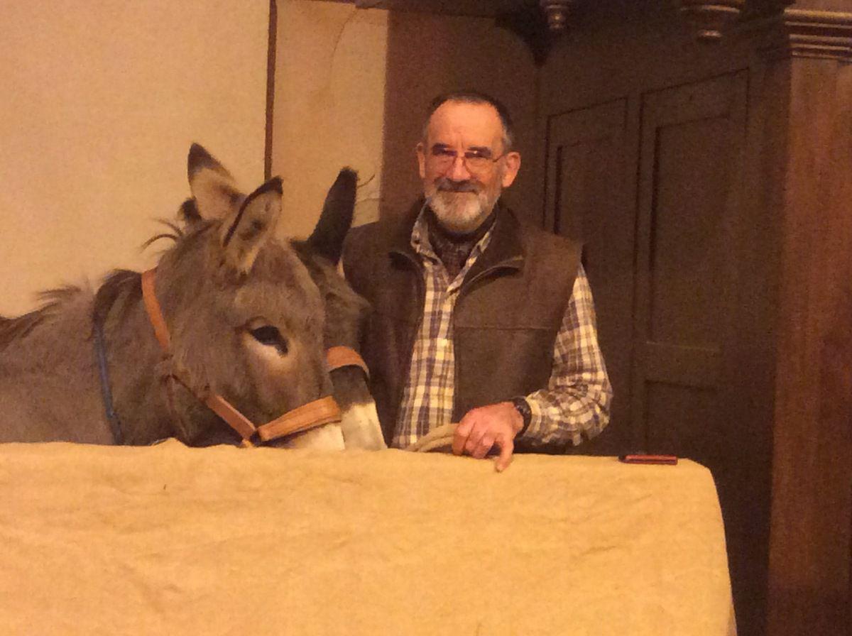 En présence de l'âne Martin !