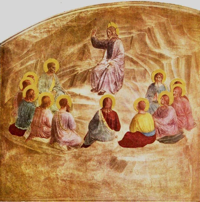 Jesus préchant sur la montagne : Fra Angelico