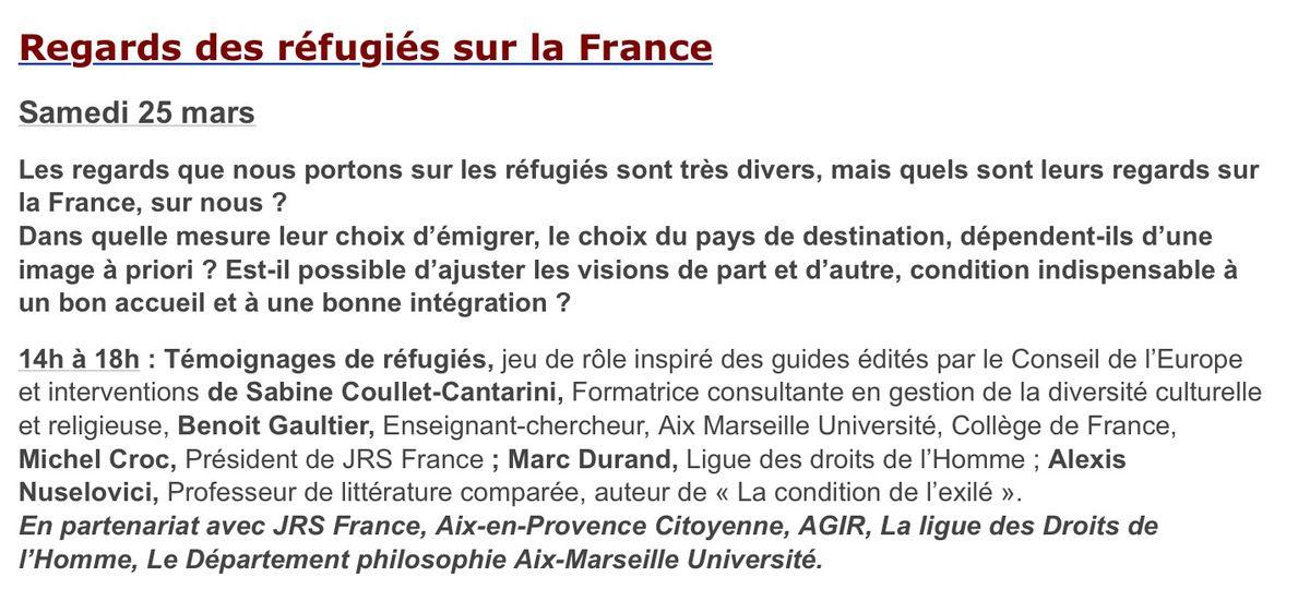 À La Baume les Aix, le samedi 25 mars de 14h à 18h.