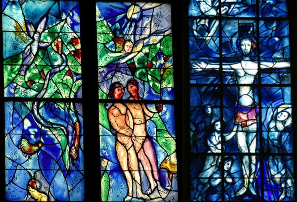 Marc Chagall, Adam et le Christ : Homélie de Pierre Laurent pour le premier dimanche de Carême