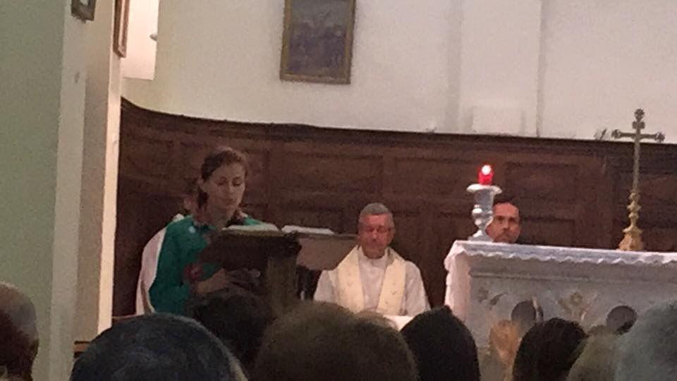 Fête de la Pentecôte à Saint Julien. Première communion de Léontine.
