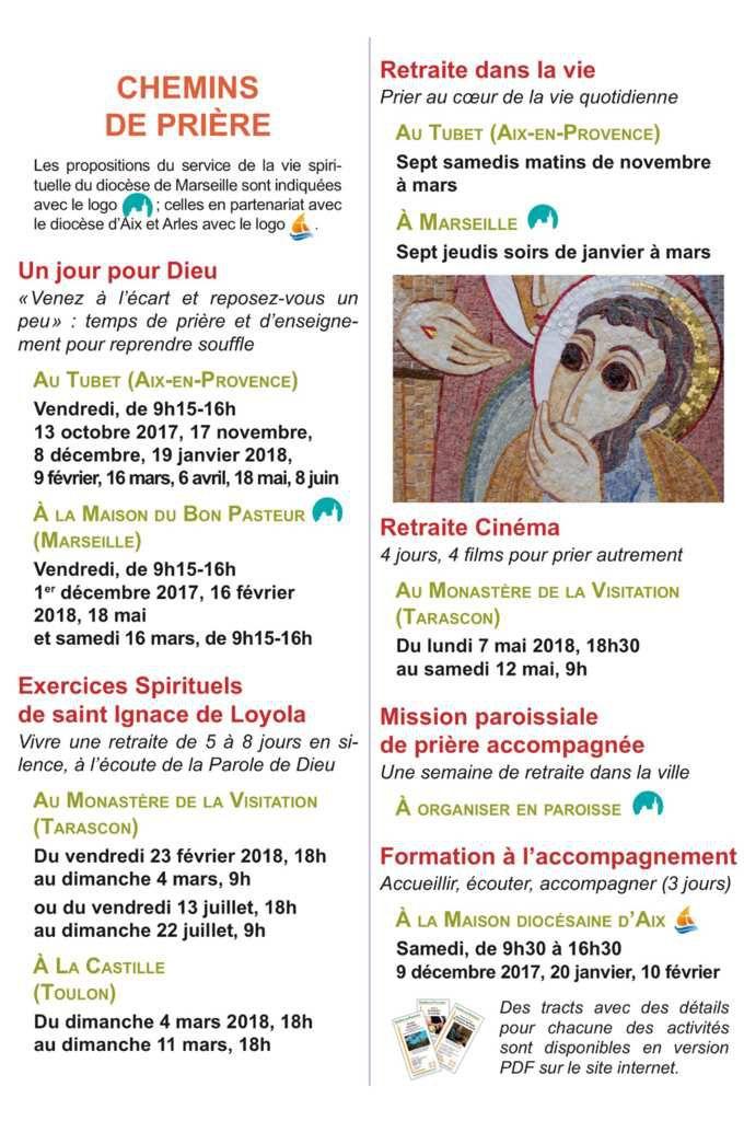 «Jésuites en Provence» est une initiative portée par les jésuites de la communauté de Marseille et leurs amis. Suite à la fermeture de La Baume en août 2017, ils déploient leurs activités à partir de la métropole d'Aix-Marseille-Provence, en s'appuyant sur d'autres lieux, notamment ceux de la vie religieuse en Provence.