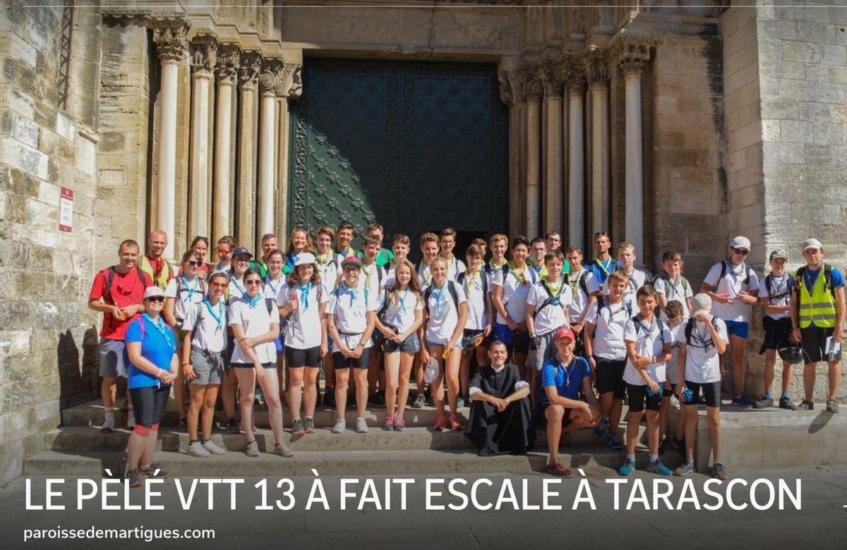 LE PÈLÉ VTT 13 A FAIT ESCALE À TARASCON