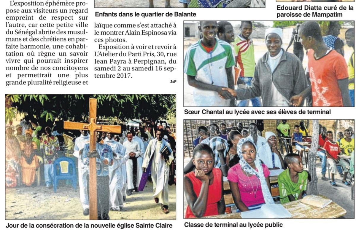 Photos Alain Espinosa dans le Petit journal catalan