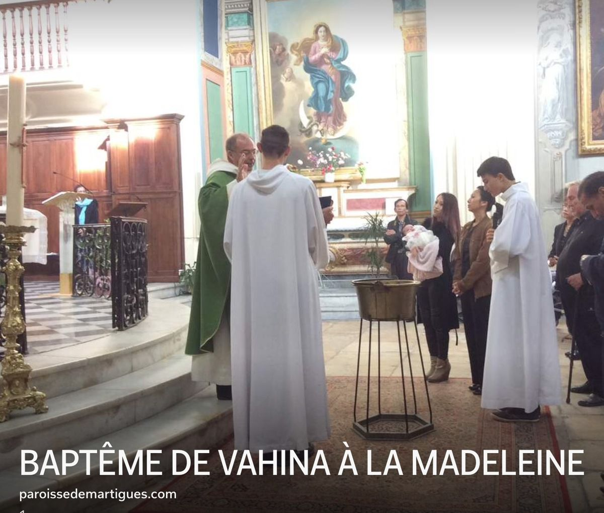 BAPTÊME DE VAHINA À LA MADELEINE