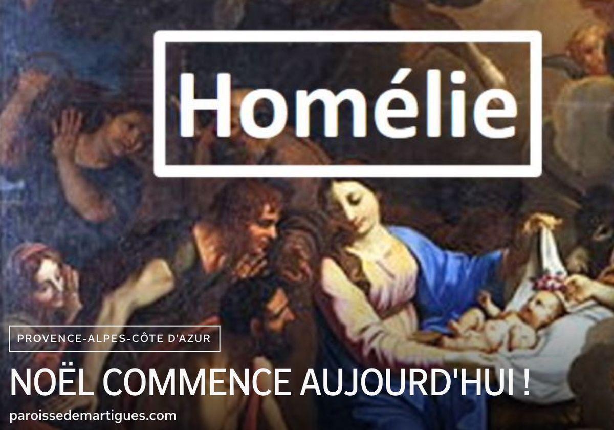 Homélie du Père Bastien Romera pour la Messe de Noël.