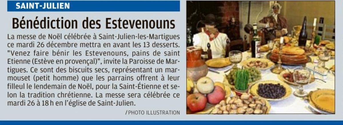 Merci à La Provence pour la couverture de la Solennité de Noël à Martigues