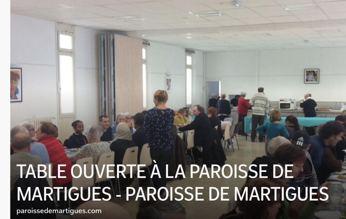 TABLE OUVERTE À LA PAROISSE DE MARTIGUES