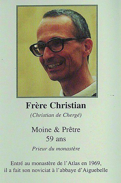 CHEMINEMENT DE CHRISTIAN DE CHERGÉ, MOINE DE TIBHIRINE