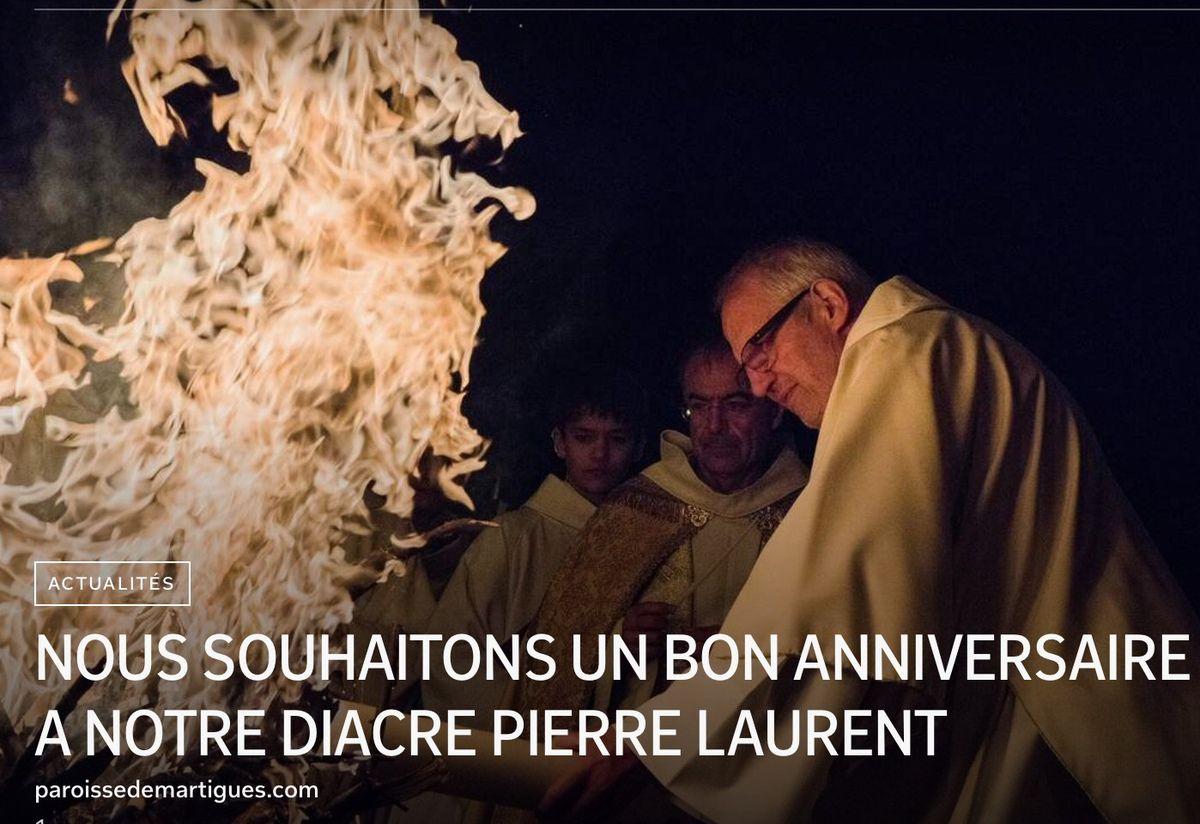 NOUS SOUHAITONS UN BON ANNIVERSAIRE À NOTRE DIACRE PIERRE LAURENT