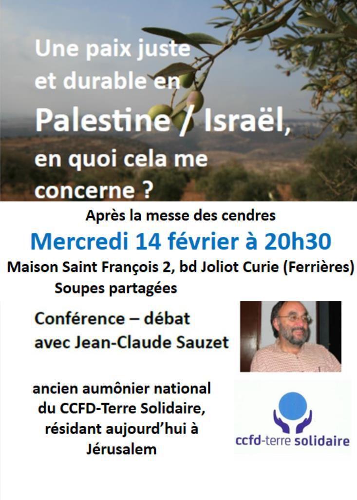 Mercredi des cendres, 14 février, à 20h30, Maison Saint François.