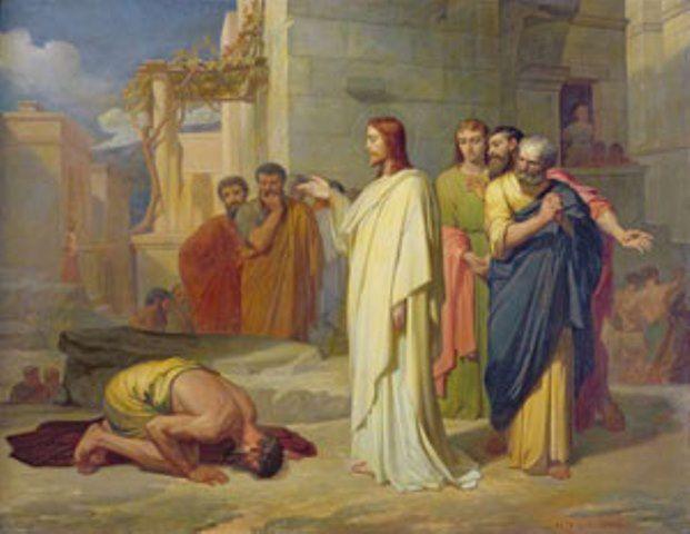 « La guérison du lépreux » Jean-Marie Melchior Doze (1827-1913) Musée des Beaux-Arts, Nîmes.