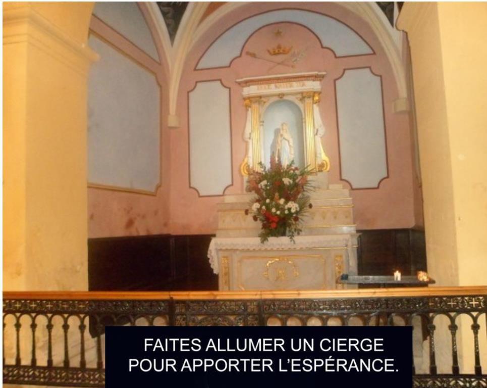 11 février 2018, Journée mondiale du Malade et fête de Notre-Dame de Lourdes . Chapelle de Notre Dame de Lourdes en l'église Saint Louis d'Anjou de Ferrières.