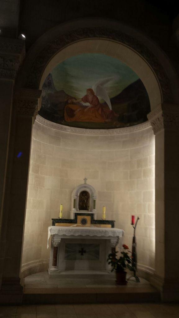 Nazareth, messe dans l'église St Joseph