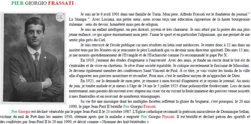 Du mercredi 25 au dimanche 29 avril, l'aumônerie de Martigues part en Pèlerinage à Turin.