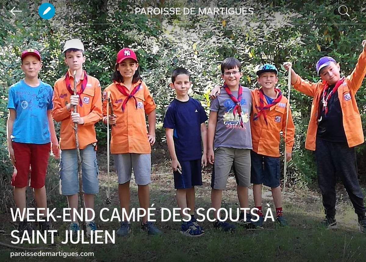 WEEK-END CAMPÉ DES SCOUTS À SAINT JULIEN