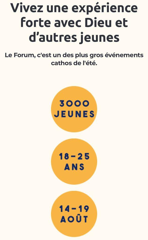 3000 jeunes à Paray le Monial du 14 au 19 août.