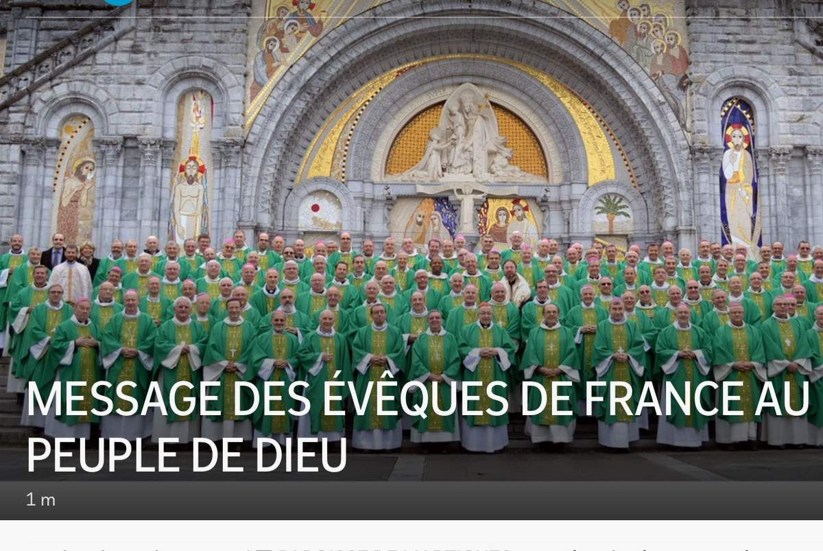 MESSAGE DES ÉVÊQUES DE FRANCE AU PEUPLE DE DIEU