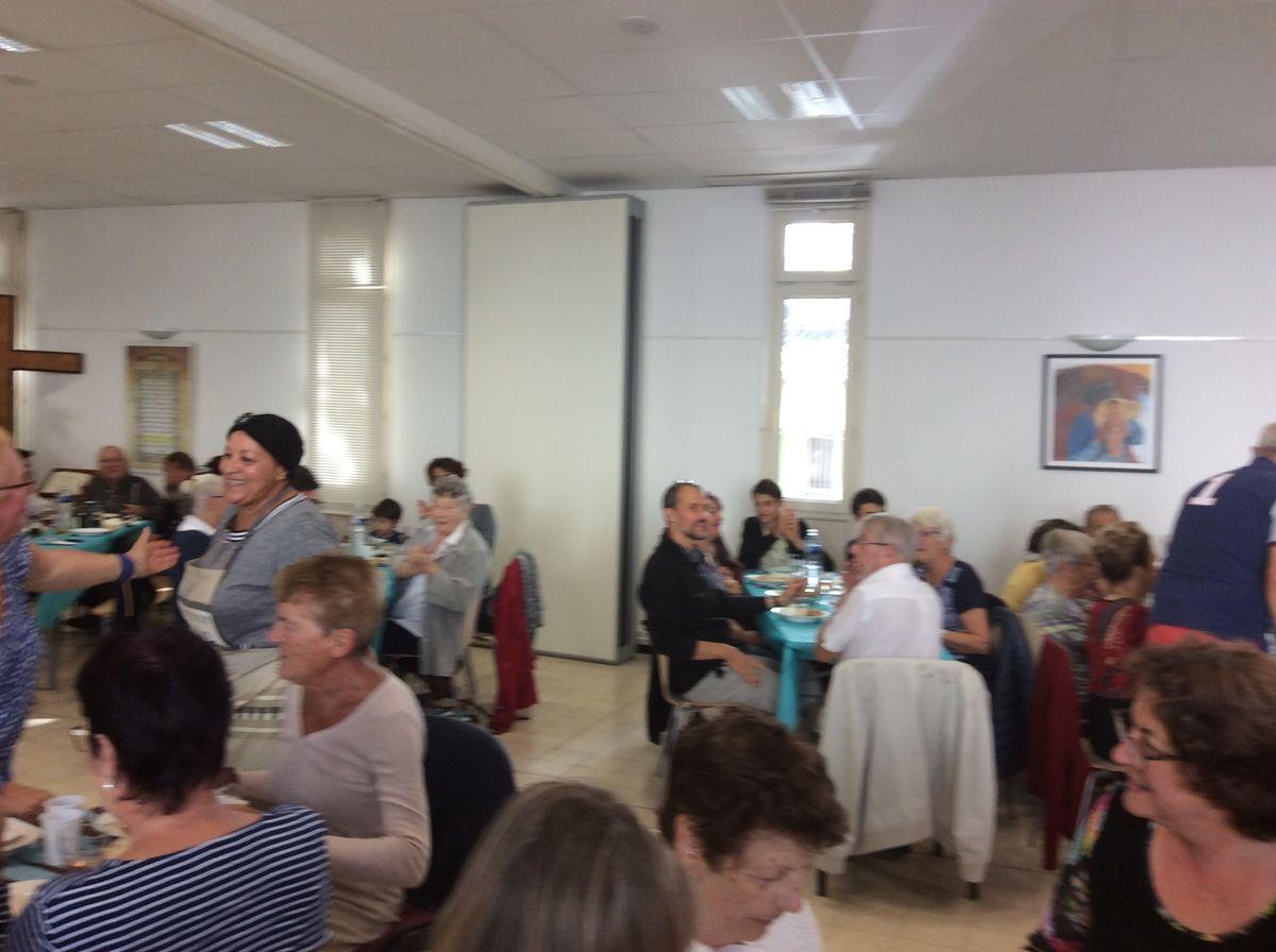 Festival de l'Annonciade : grand succès pour le repas commun à la Maison Saint François.