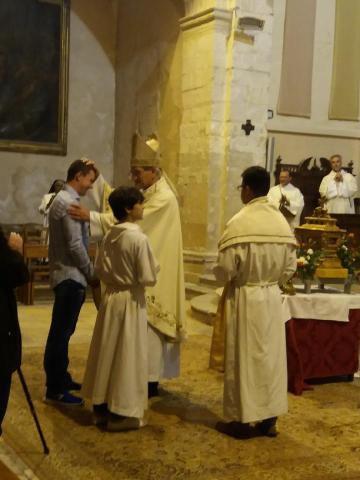 Admission dans la pleine communion de l'Eglise catholique de Nazar, samedi soir à Saint Genest
