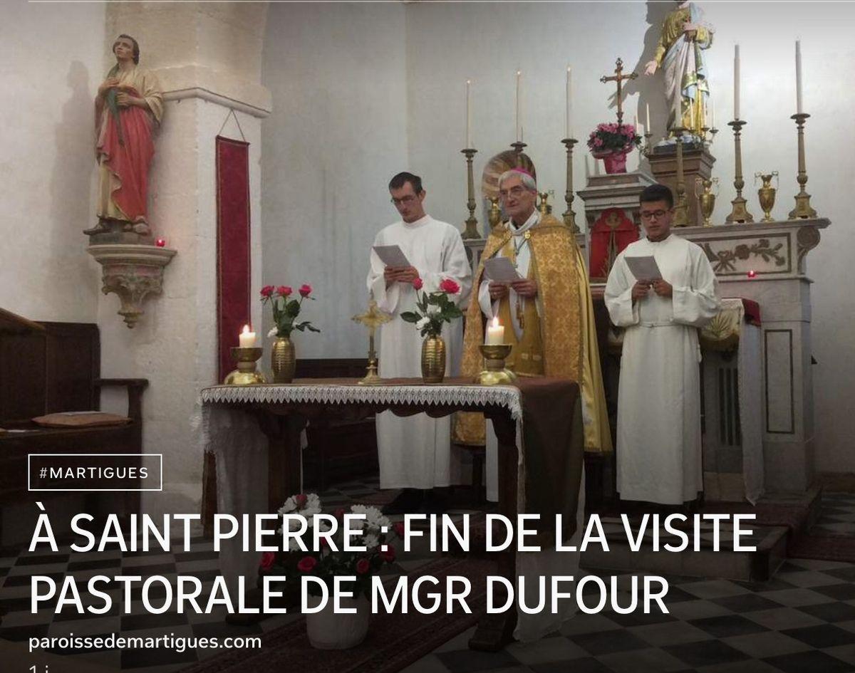 À SAINT PIERRE : FIN DE LA VISITE PASTORALE DE MGR DUFOUR