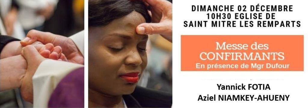 CONFIRMATIONS À SAINT MITRE