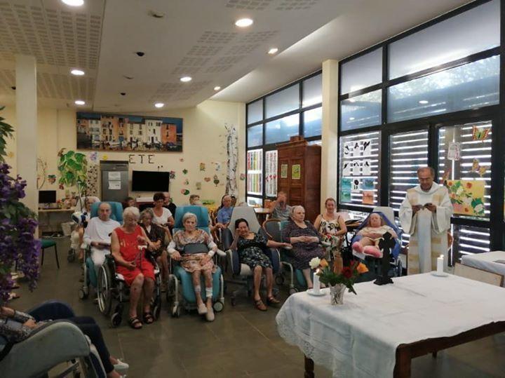 Messe  ce matin à l'hôpital du Vallon
