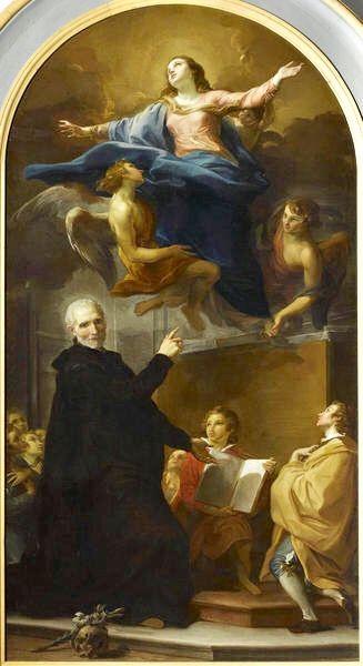 L'Apparition de la Vierge à saint Joseph de Calasanz. Palais Fesch-musée des Beaux-Arts Ajaccio.