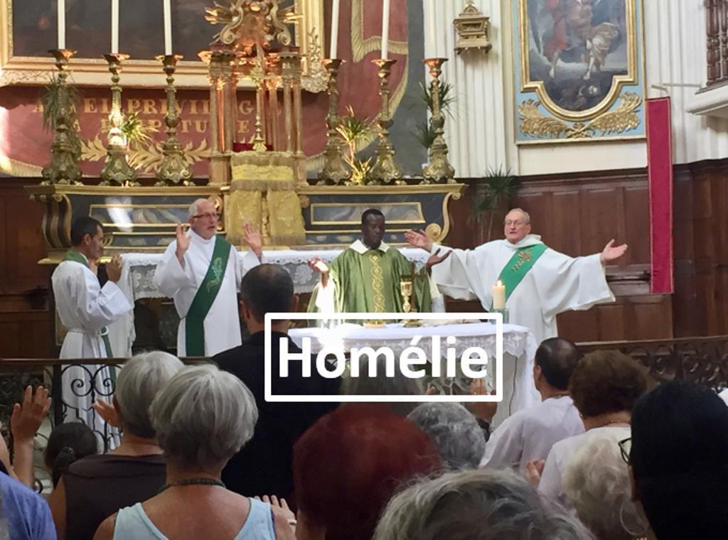 Homélie du Père Sebastien Sambou pour le vingt deuxième dimanche du Temps ordinaire. Dernière Homélie à La Madeleine