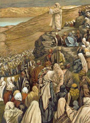 « Le sermon sur la montagne » James Tissot (1836-1902) Brooklyn Museum, New York.