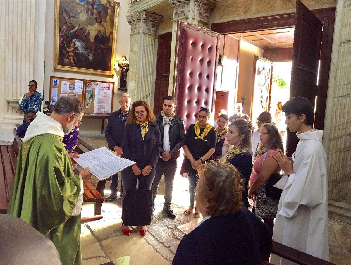 Ce matin à La Madeleine, accueil de Vanessa, Maeva, Myriam, Claire, Nadjima, Gaetano, Narcisse, Marie-Antoinette et Bernard