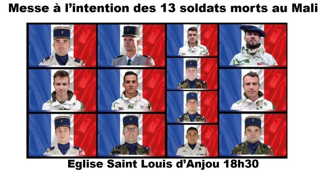 MESSE CE SOIR POUR LES 13 SOLDATS MORTS AU MALI