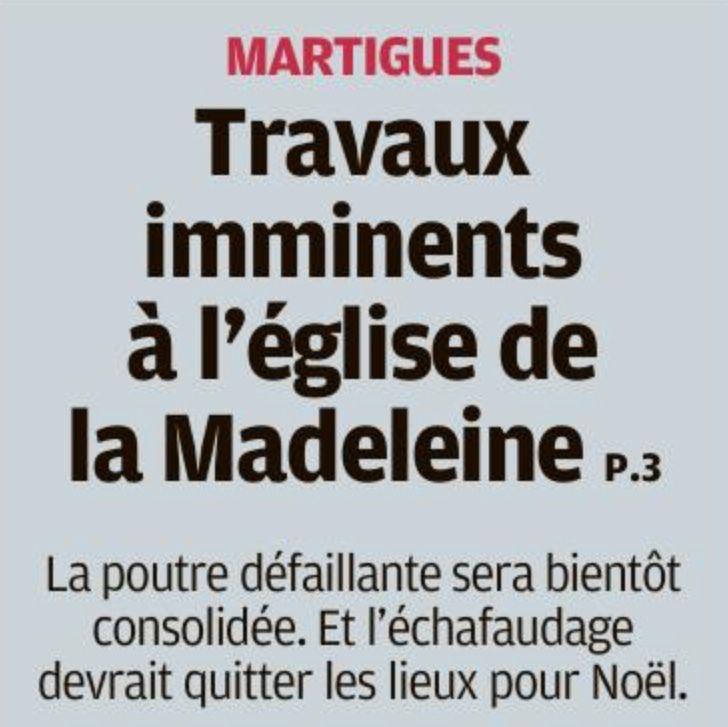 NOËL SANS ÉCHAFAUDAGE À LA MADELEINE