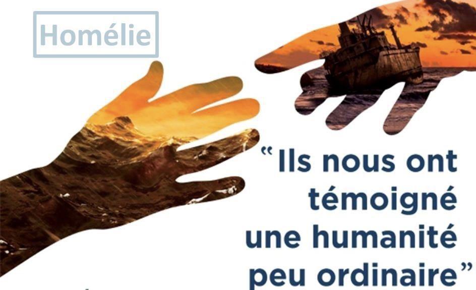 Homélie du Père Michel Isoard lors de la célébration oecuménique au Temple.
