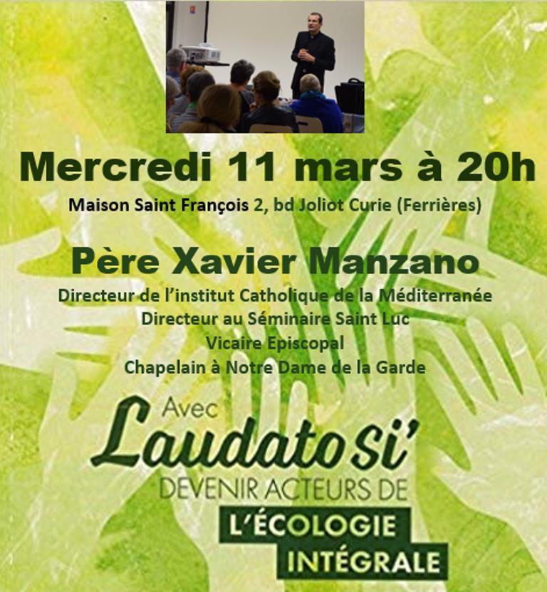Mercredi 11 mars à 20h, Maison Saint François, 2, bd Joliot-Curie