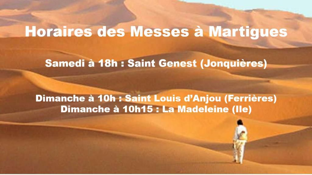 HORAIRES POUR LES MESSES DOMINICALES