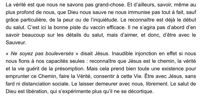 Méditation du Père Bastien Romera pour le 8 mai 2020