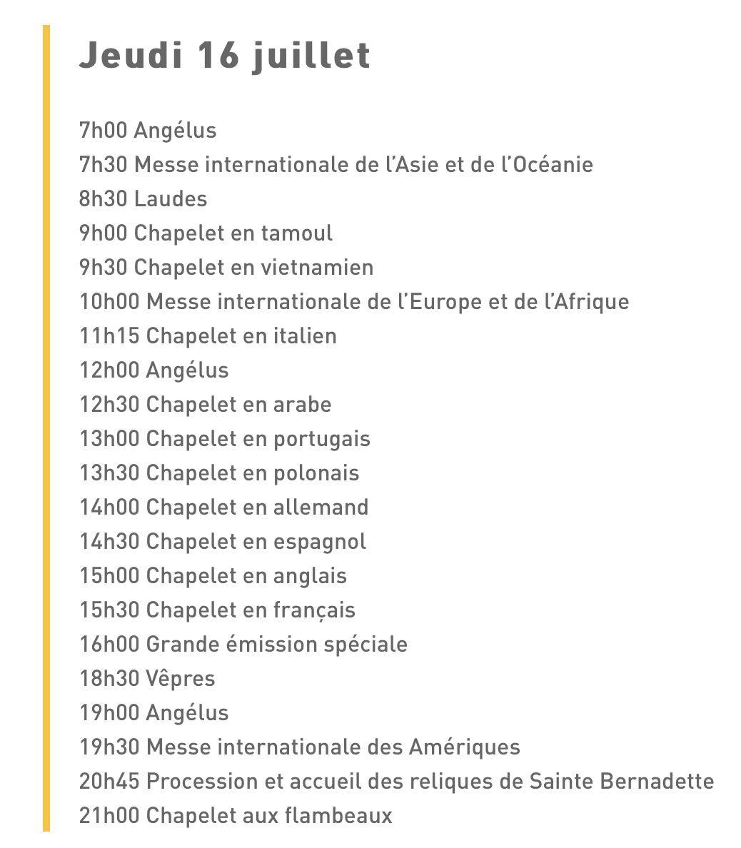 NOTRE SITE EN PÈLERINAGE À LOURDES LE 16 JUILLET