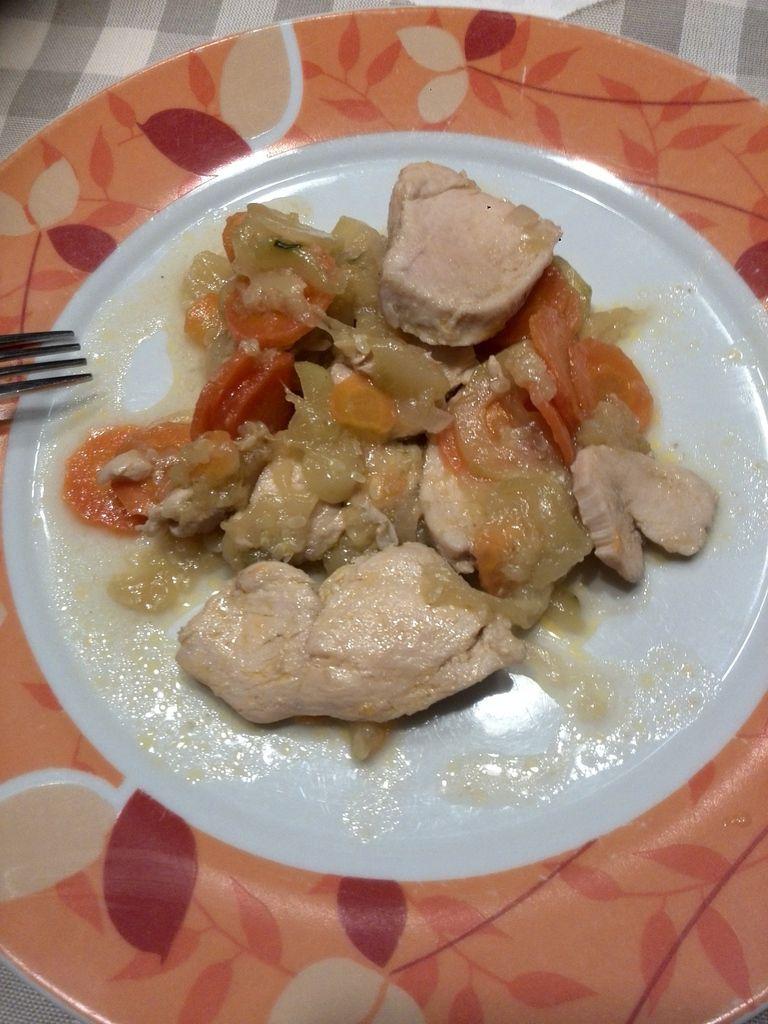 sauté de poulet carottes courgettes