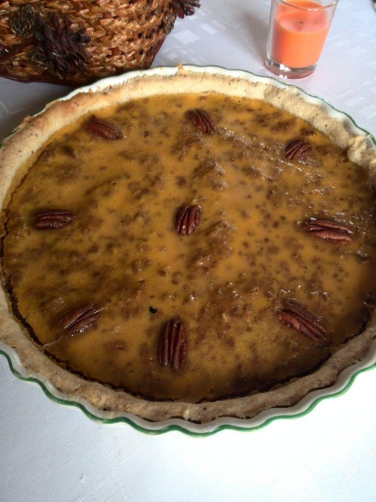 tarte sucrée au potiron et sirop d'érable