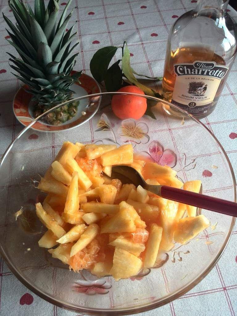 salade d'ananas et clémentines